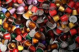 discarded coffee pods