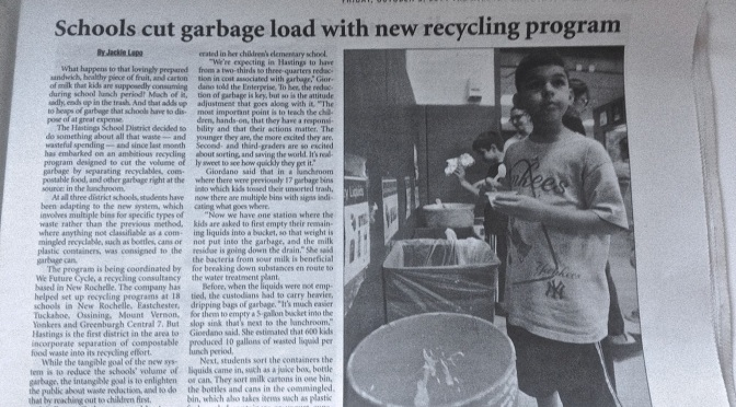 Glowing Newspaper Article About Hastings-on-Hudson Recycling Program