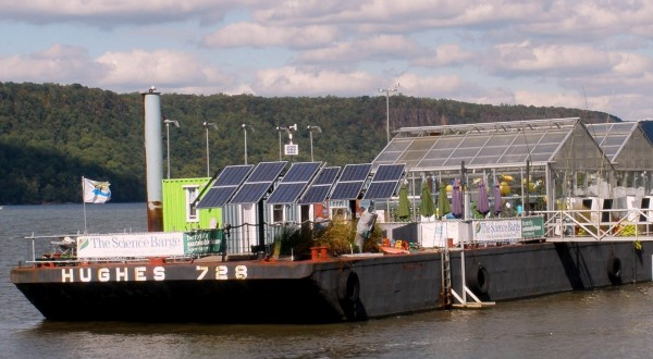 The Science Barge, a Floating Urban Farm in Yonkers