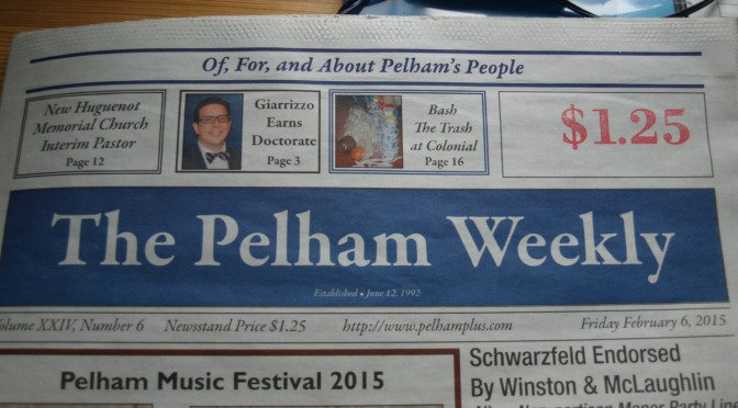 Pelham's Colonial School In The Pelham Weekly Newspaper For Making A Difference