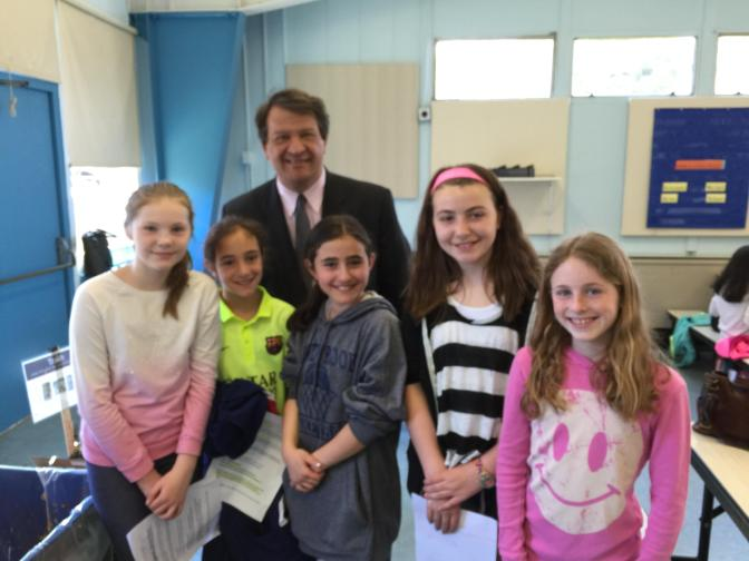 Senator George Latimer Visits We Future Cycle School Recycling Implementation