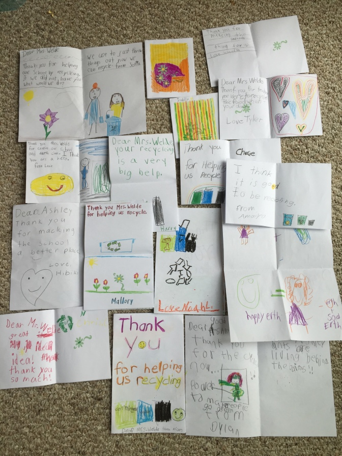 First Graders Write Heartwarming Thank You Notes for Bringing Recycling to Their School