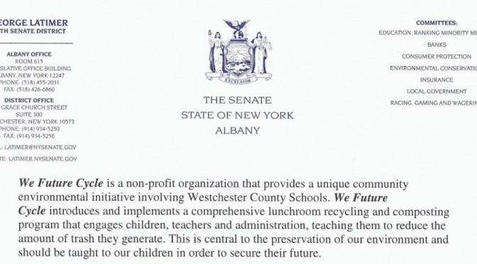 Senator Latimer supports We Future Cycle Program implementation throughout NY