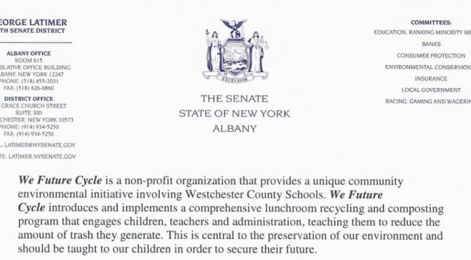 Senator Latimer supports We Future Cycle Program implementation throughout NY