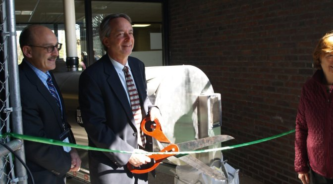Mamaroneck's Middle School has Ribbon Cutting Ceremony for Rocket Composter