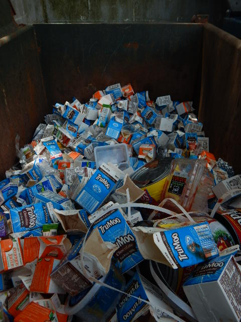 White Plains School Milk Cartons Recycled At Material Recovery Facility