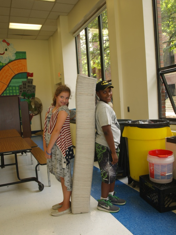 White Plains GW Elementary School Reduces Garbage by 98 %