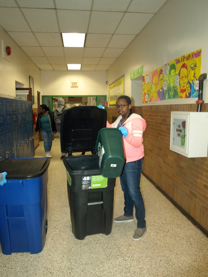 New Rochelle Recycling Club Students Making IEYMS A Greener Place