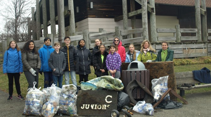 New Rochelle Middle School Students Pitching In At Five Island Park
