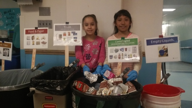 White Plains MAS Students Run Recycling Program With Gusto!