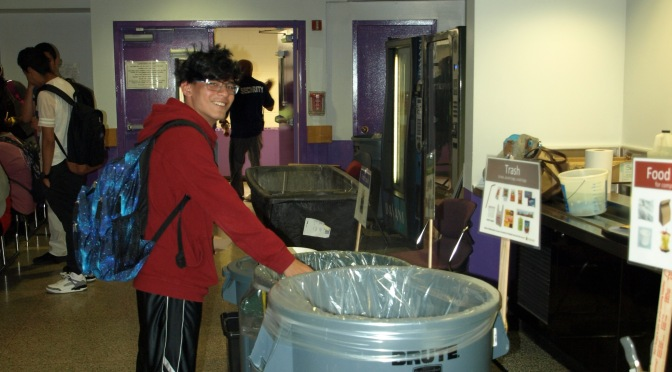 New Rochelle High School: Changing the world…3500 students reduce garbage by 90% through sorting.