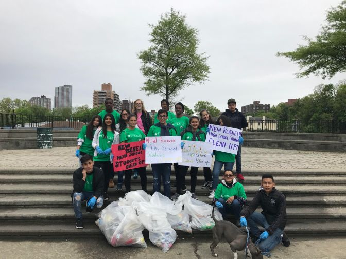 New Rochelle High School Students Pitch In……in a big way!