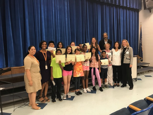 White Plains Elementary Students Celebrate Green Writing Contest
