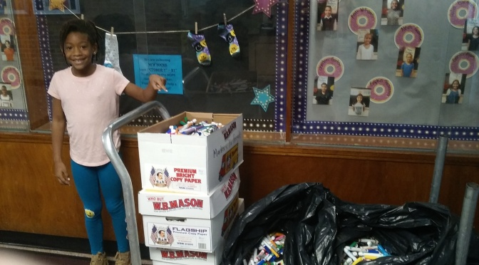 New Rochelle Ward School recycles boxes and boxes of markers