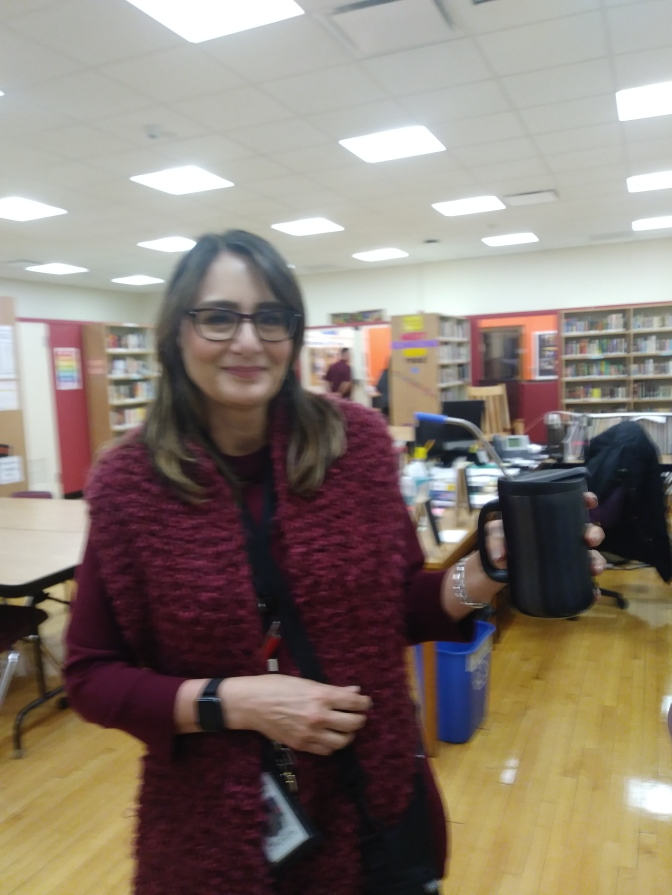 White Plains Rochambeau Teacher ditches the straw
