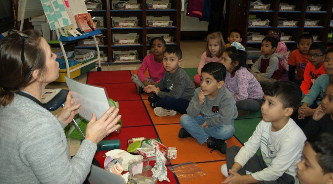 New Rochelle Barnard students are detectives of packaging material