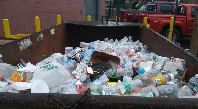 Recycling from 3500 students in 2 days at New Rochelle HS