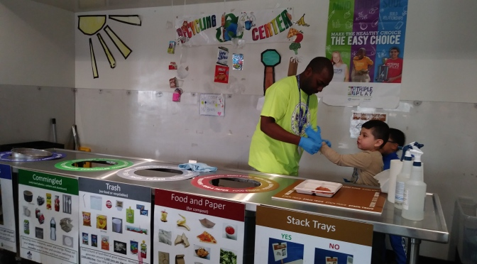 New Rochelle Trinity Lunchroom Cleaner empowering students