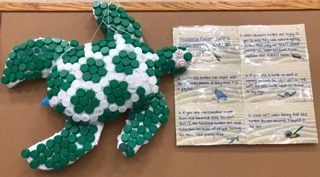 Rye MS students create Recycling Artwork to keep sorting motivation high
