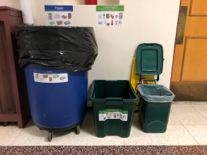 Hallway Station with Compost